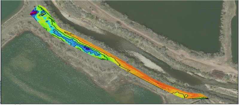 Example of EM Conductivity Data for a Levee Characterization