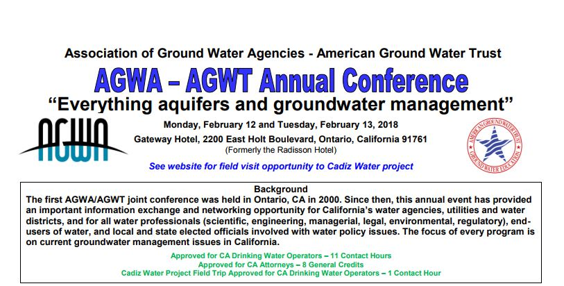 AGWT Annual Conference – Ontario, CA