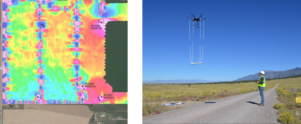 Drone-based magnetometer system mapping abandoned oil wells and flow lines in Colorado