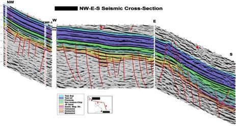 NW-E-S Seismic Cross-Section