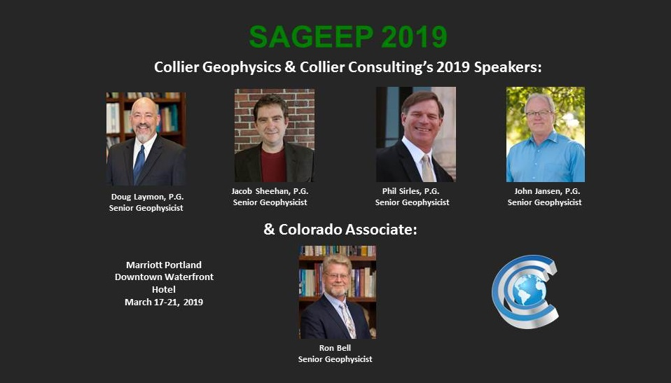 4 Opportunities to Hear from Collier Senior Geophysicists at SAGEEP 2019 Portland!
