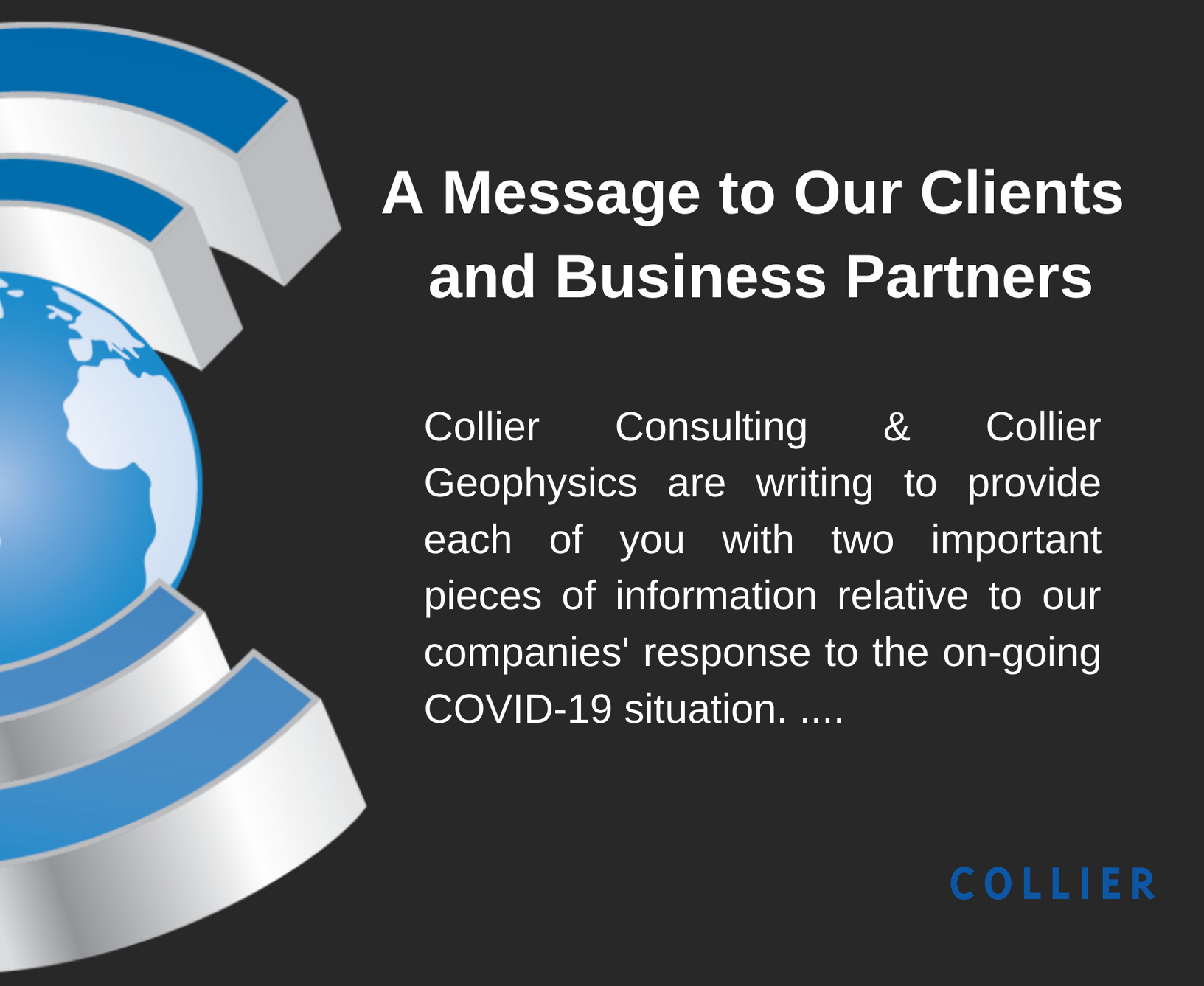 A Message to Our Clients and Business Partners
